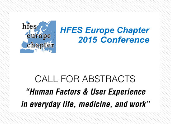 Europe Chapter of the Human Factors and Ergonomics Society  Annual Conference 2015