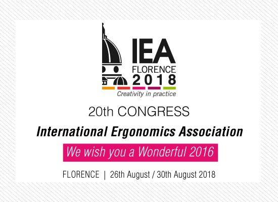 20th CONGRESS INTERNATIONAL ERGONOMICS ASSOCIATION OUR WISHES FOR YOU