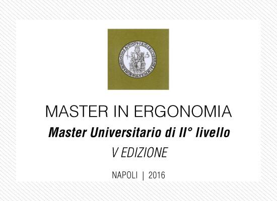 MASTER DI II° LIVELLO IN ERGONOMIA - Napoli 2016